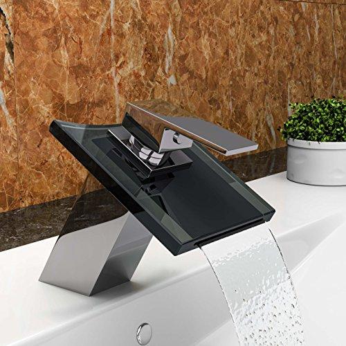 vilstein waschtisch armatur einhebelmischer einhand wasserhahn mit wasserfall effekt armatur. Black Bedroom Furniture Sets. Home Design Ideas
