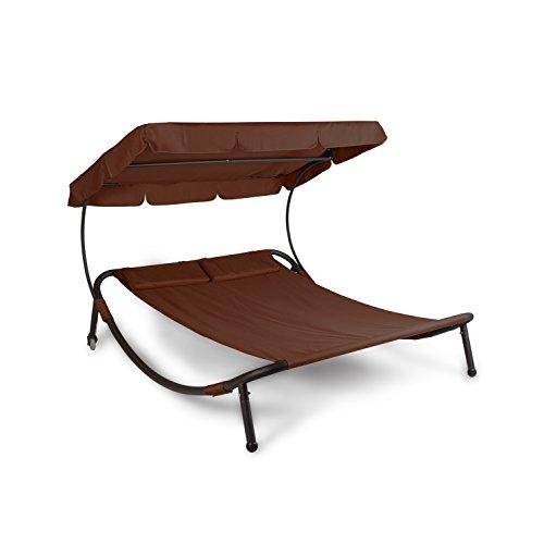 vanage doppel sonnenliege mit sonnendach felisa braun m bel24. Black Bedroom Furniture Sets. Home Design Ideas