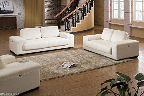 Voll-Leder-Sofa-Garnitur-Polstermöbel-Lederpolstermöbel Sessel 5042 3+2+1-W