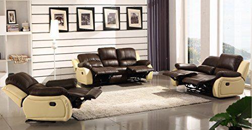 Voll-Leder Sofagarnitur Fernsehsofas Relaxsofas 5129-3+2+1-377-317