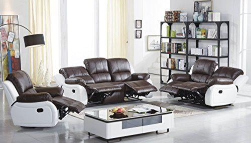 Voll-Leder Sofagarnitur Fernsehsofas Relaxsofas 5129-3+2+1-377-W