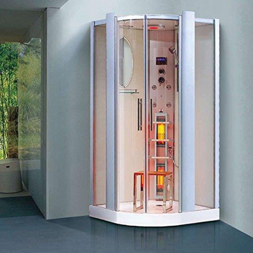 weltneuheit infrarotdampfdusche santorin infrarotkabine. Black Bedroom Furniture Sets. Home Design Ideas