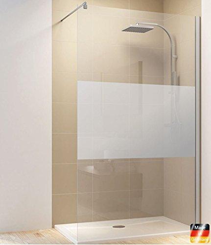 Walk In Dusche Duschkabine Duschwand Duschabtrennung 6mm ESG (90 x 200 cm, Streifendekor)