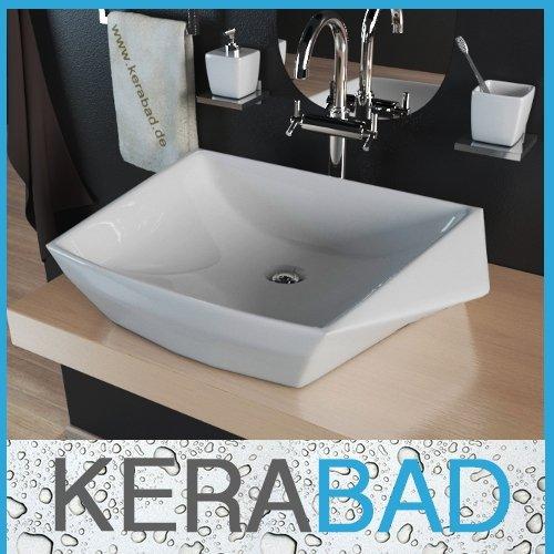 Waschbecken KBW189 Keramik Waschtisch Waschschale Aufsatzwaschbecken