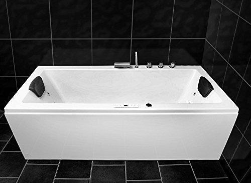 whirlpool badewanne 8 r ckend sen massagen d sen led spa 170 x 75 cm modell konstanz basic. Black Bedroom Furniture Sets. Home Design Ideas