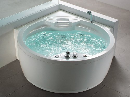 whirlpool badewanne florenz mit 14 massage d sen heizung ozon desinfektion beleuchtung. Black Bedroom Furniture Sets. Home Design Ideas