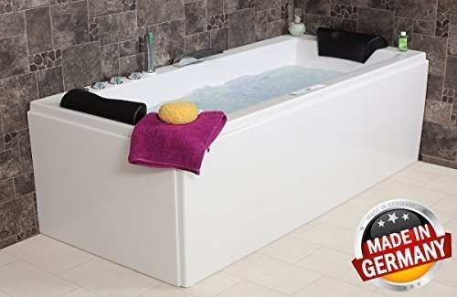 whirlpool badewanne relax profi made in germany 180 190 200 cm mit 24 massage d sen. Black Bedroom Furniture Sets. Home Design Ideas