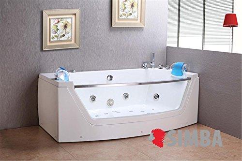Whirlpool jacuzzi spa eckbadewannen doppelkissen 180 x 90 cm badewanne m privileg m bel24 - Eckbadewannen whirlpool ...