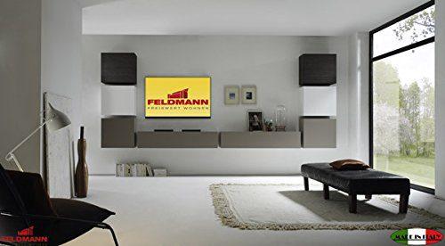 Wohnwand 555043 Anbauwand 8-teilig weiß Hochglanz lackiert / beige matt - wenge