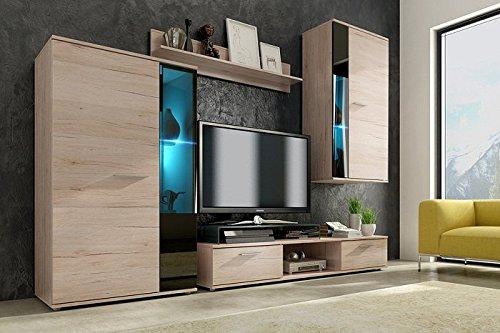 wohnwand sigma schrankwand wohnzimmer sonoma eiche m bel24. Black Bedroom Furniture Sets. Home Design Ideas