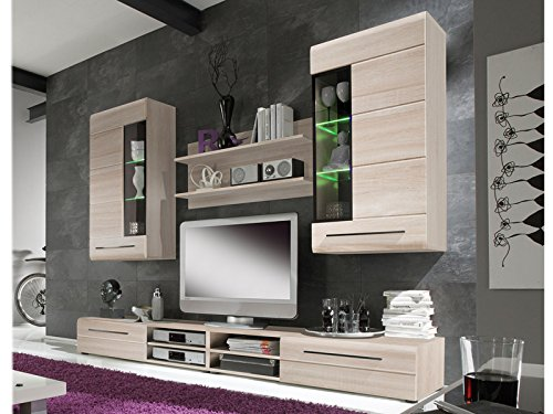 wohnwand wohnzimmerschrank anbauwand schrankwand schrank komplettset snow iv m bel24. Black Bedroom Furniture Sets. Home Design Ideas