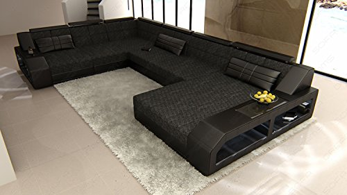 xxl stoff sofa mega wohnlandschaft matera u form stoffsofa polstersofa polsterwohnlandschaft. Black Bedroom Furniture Sets. Home Design Ideas