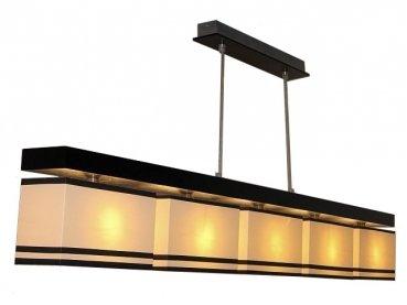 "Yadoso Designer Pendellampe LED fünfflammig Model ""LONDON"" Holzton wählbar"