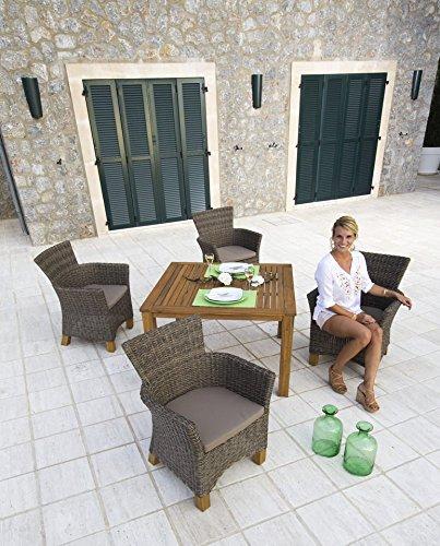 baumarkt direkt 9 tlg gartenm bel diningset toskana hellbraun m bel24. Black Bedroom Furniture Sets. Home Design Ideas