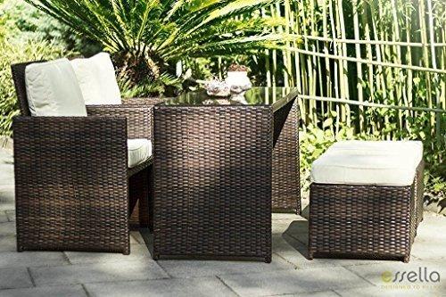 essella polyrattan essgruppe vienna 2er in bicolor braun xxl m bel m bel24. Black Bedroom Furniture Sets. Home Design Ideas