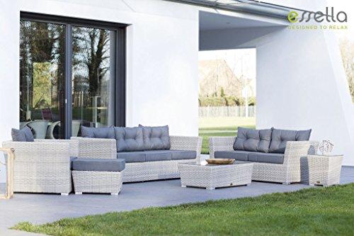 essella polyrattan garnitur new orleans in vintage weiss geflecht halbrund 0 m bel24. Black Bedroom Furniture Sets. Home Design Ideas
