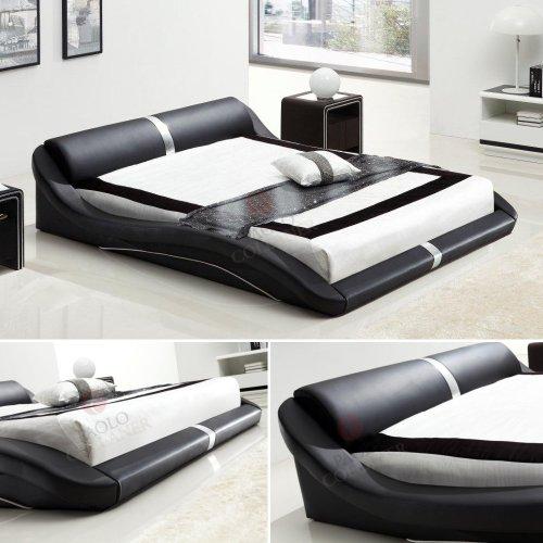i-flair® - Designer Bett 180x200 cm Paola Schwarz #58