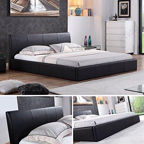 i-flair® - Designer Polsterbett, MONACO Bett 140x200 cm schwarz - alle Farben & Größen