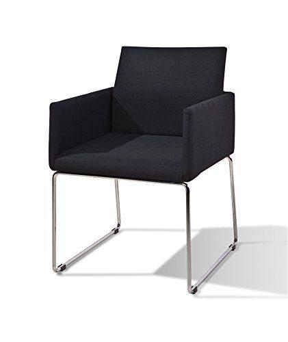 my Chair Esszimmer Stuhl Retro Design 2-er Set, anthrazit