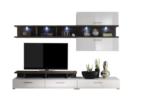 trendteam la94711 wohnzimmerschrank wohnwand anbauwand. Black Bedroom Furniture Sets. Home Design Ideas