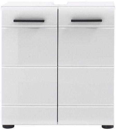 trendteam SN30101 Bad Waschbeckenunterschrank weiss hochglanz, BxHxT 60x56x31 cm