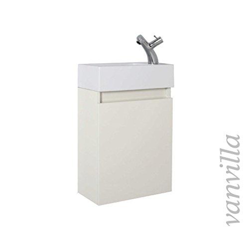 trendteam bc33103 bad waschbeckenunterschrank weiss hochglanz korpus grau melamin bxhxt. Black Bedroom Furniture Sets. Home Design Ideas