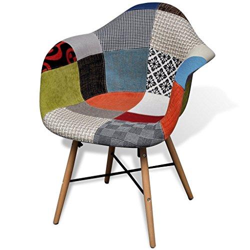 vidaxl esszimmerstuhl mit holzbeinen und armlehnen bunt patchwork m bel24. Black Bedroom Furniture Sets. Home Design Ideas