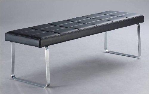 1x Sitzbank Elva3 für Küche oder Wohnzimmer und Esszimmer mit hochwertigem Kunstleder in Schwarz