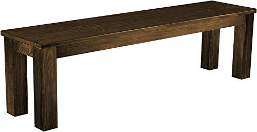 Brasilmöbel Sitzbank 'Rio Classico' 160 x 38 x 44 cm, Pinie Massivholz, Farbton Eiche antik