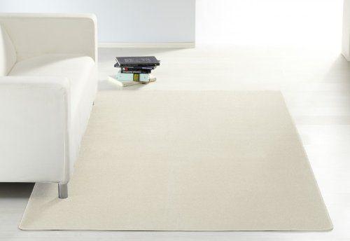 Design Kurzflor Teppich Beshir Farbauswahl, Größe:140x200;Farbe:Creme