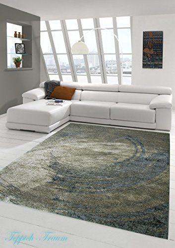 Designer Teppich Moderner Teppich Wohnzimmer Teppich Barock Design Relief Optik in Braun Beige Grau Größe 200 x 290 cm