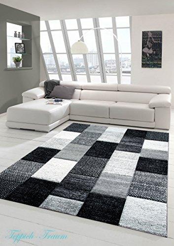 designer teppich moderner teppich wohnzimmer teppich kurzflor teppich mit konturenschnitt karo. Black Bedroom Furniture Sets. Home Design Ideas