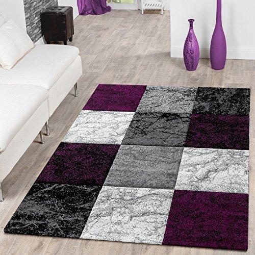 designer teppich valencia modern mit marmor optik kariert. Black Bedroom Furniture Sets. Home Design Ideas