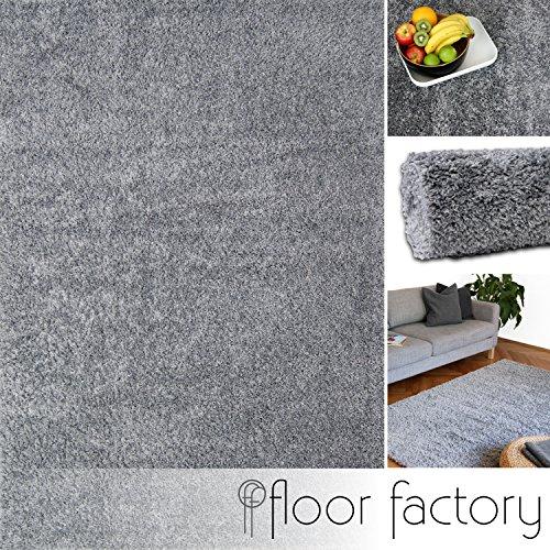 hochflor shaggy teppich colors silber grau 120x170cm pflegeleichter und g nstiger. Black Bedroom Furniture Sets. Home Design Ideas
