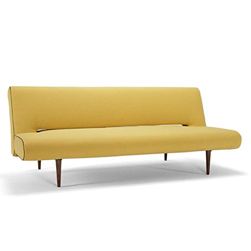 innovation unfurl schlafsofa senf gestell holz stoff 554. Black Bedroom Furniture Sets. Home Design Ideas