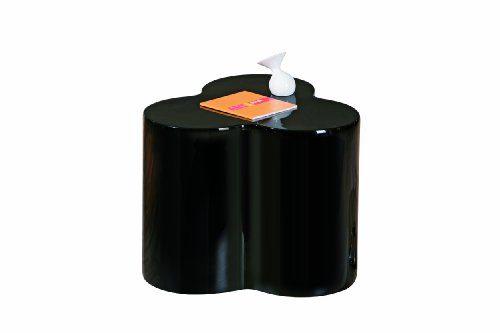 Links 99101150 Beistelltisch schwarz hochglanz Wohnzimmertisch Beistell Tisch Nachttisch modern
