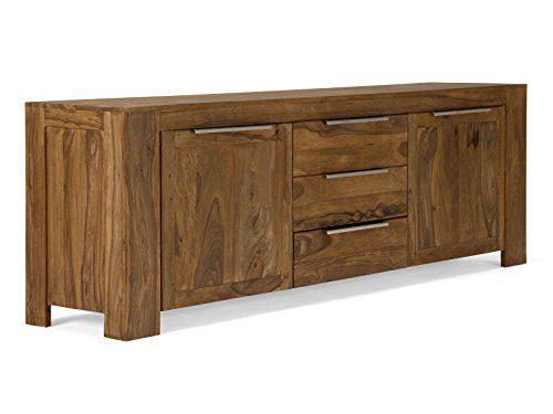 Massivum 10009349 Sideboard Stark Palisander teak finish Holz, 50 x 228 x 77 cm