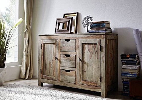 palisander massiv holz sideboard sheesham m bel nature grey 83 m bel24. Black Bedroom Furniture Sets. Home Design Ideas