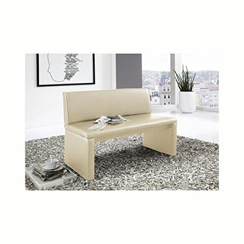 SAM® Einzelbank Family Cruse 100 cm, Sitzbank in creme mit SAMOLUX® Bezug, gepolsterte Bank , angenehmer Sitzkomfort