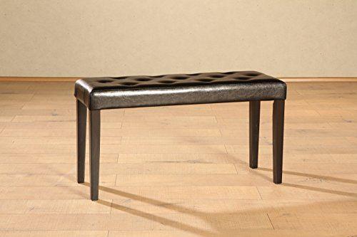 SAM® Esszimmer Sitzbank Anke in dunkelbraun mit kolonial-farbigen Beinen, Bank in 90 cm Breite, SAMOLUX®-Bezug für angenehmen Sitzkomfort, frei im Raum aufstellbare Essbank ohne Rückenlehne