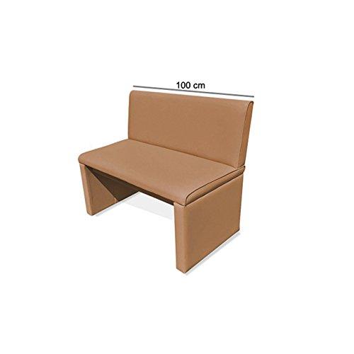 SAM® Esszimmer Sitzbank Family Chaplin 100 cm cappuccino frei im Raum stellbar komplett bezogen Lieferung mit einem Paketdienst