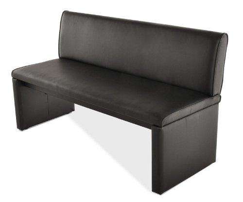 SAM® Esszimmer Sitzbank Family Smith in schwarz, 200 cm Breite, Sitzbank mit pflegeleichtem SAMOLUX® Bezug, angenehmer Sitzkomfort, frei im Raum aufstellbare Bank mit Rückenlehne