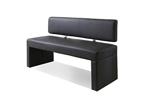 SAM® Esszimmer Sitzbank Silas, 140 cm, in grau, Sitzbank mit Rückenlehne aus Samolux®-Bezug, angenehmer Sitzkomfort, frei im Raum aufstellbare Bank
