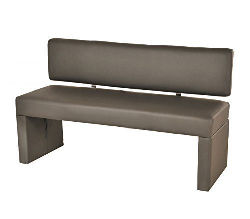 SAM® Esszimmer Sitzbank Sina, 140 cm, in muddy, Sitzbank mit Rückenlehne aus Samolux®-Bezug, angenehmer Sitzkomfort, frei im Raum aufstellbare Bank
