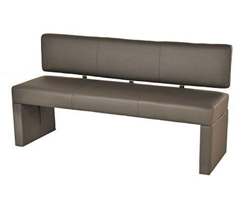 SAM® Esszimmer Sitzbank Sina, 164 cm, in muddy, Sitzbank mit Rückenlehne aus Samolux®-Bezug, angenehmer Sitzkomfort, frei im Raum aufstellbare Bank