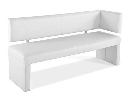 SAM® Ottomane Sitzbank, Eckbank Laselena in weiß, 150 cm Breite, gepolsterte Bank mit weißem Stoffbezug, angenehmer Sitzkomfort