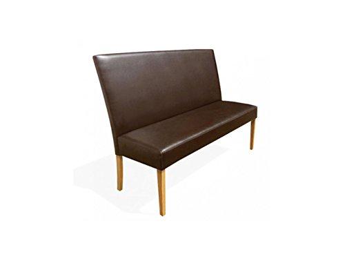SAM® Sitzbank Bari IV in braun mit buche farbigen Beinen 200 cm Pinienholz angenehme Polsterung pflegeleicht teilzerlegt Auslieferung durch Spedition
