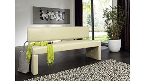 SAM® Sitzbank Sandra in creme 180 cm für 4 Personen geeignet angenehme Polsterung pflegeleicht teilzerlegt Auslieferung durch Paketdienst