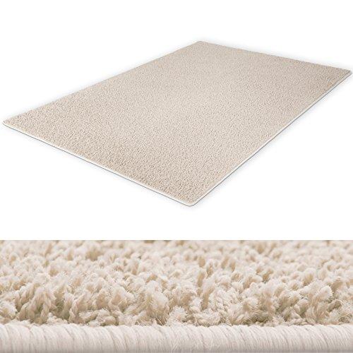 shaggy teppich hochwertiger teppichklassiker f r behagliches ambiente farbe creme gr e. Black Bedroom Furniture Sets. Home Design Ideas