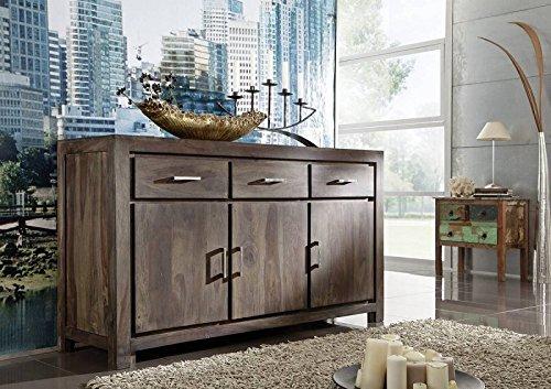 palisander massiv holz sideboard sheesham m bel nature grey 83 m bel24. Black Bedroom Furniture Sets. Home Design Ideas